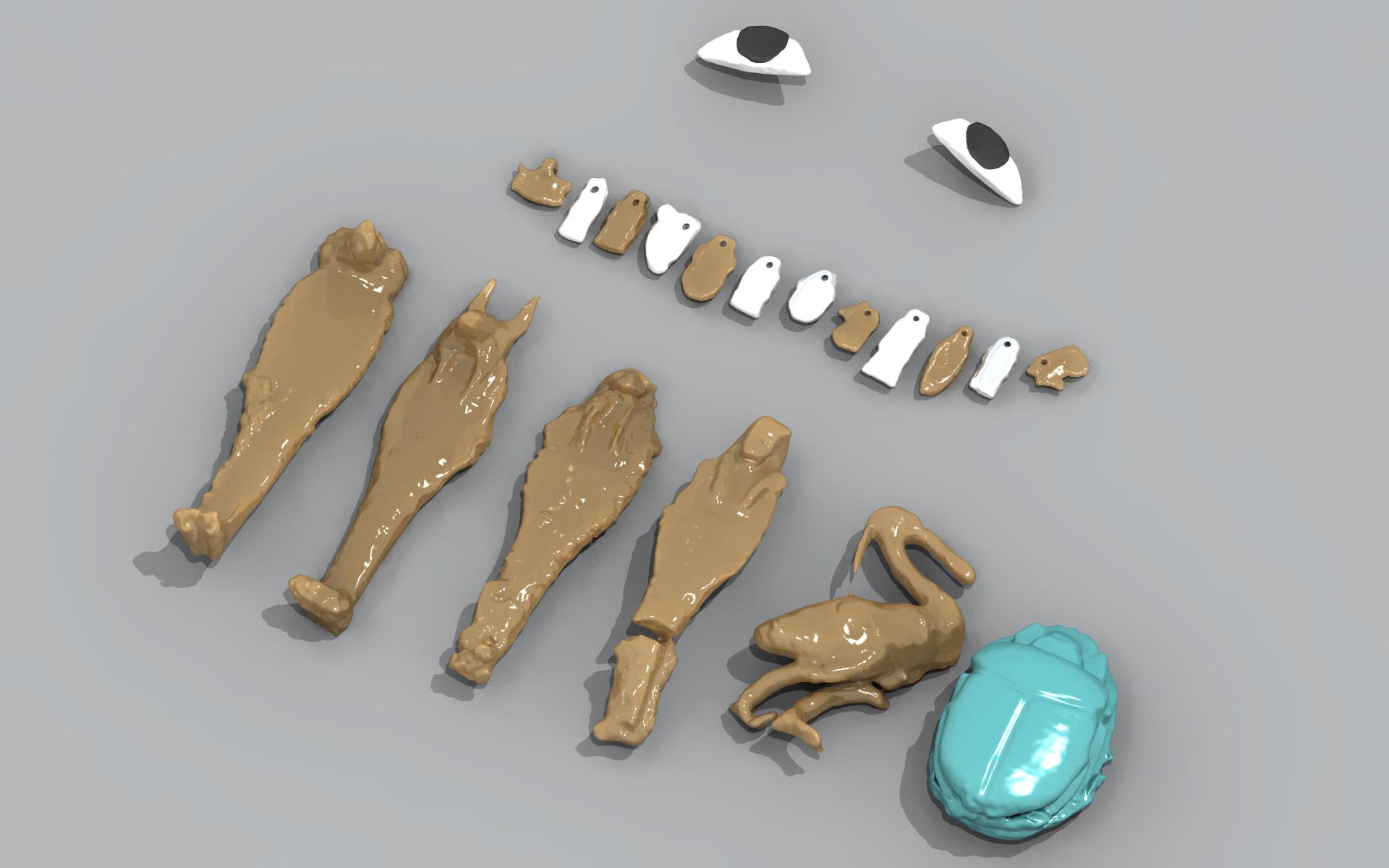 Amulettes - modèles 3D