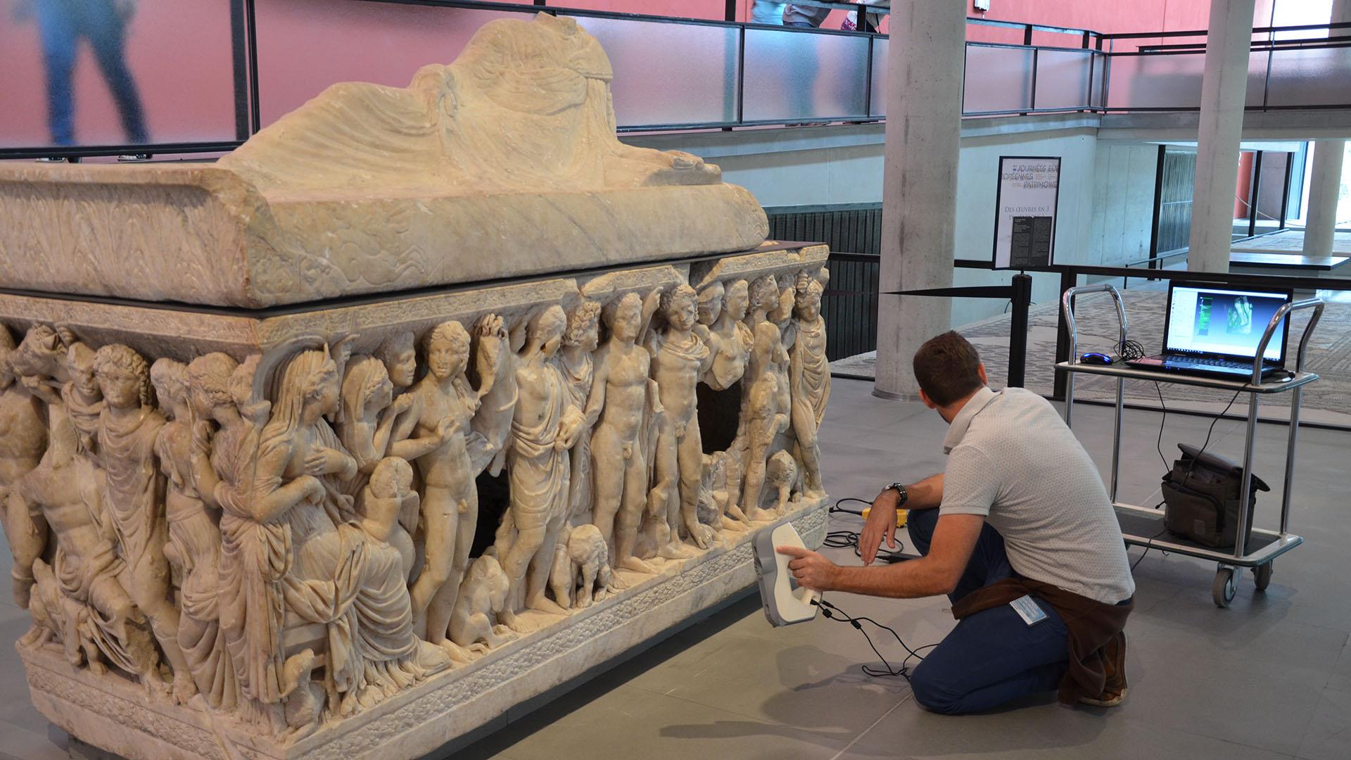 Numérisation 3D - Musée Arles Antique - Sarcophage
