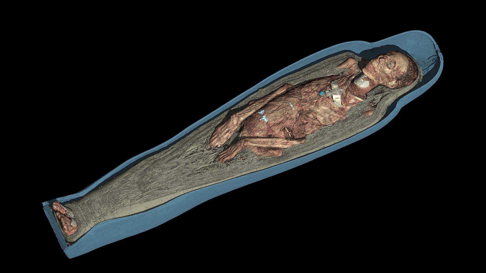 British Museum - Momie Tjentmutengebtiu 3D