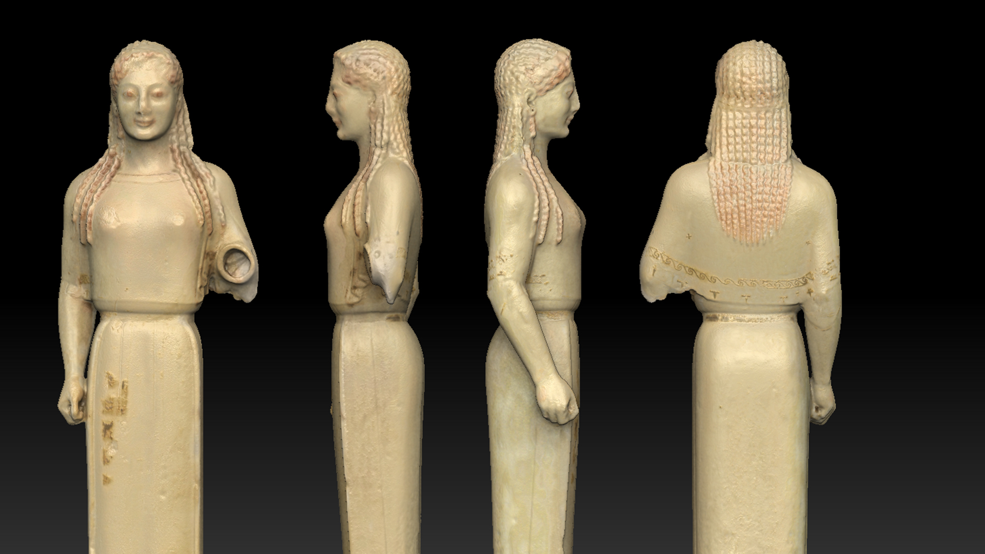 Musée de l'Acropole - Numérisation 3D - Peplos Kore