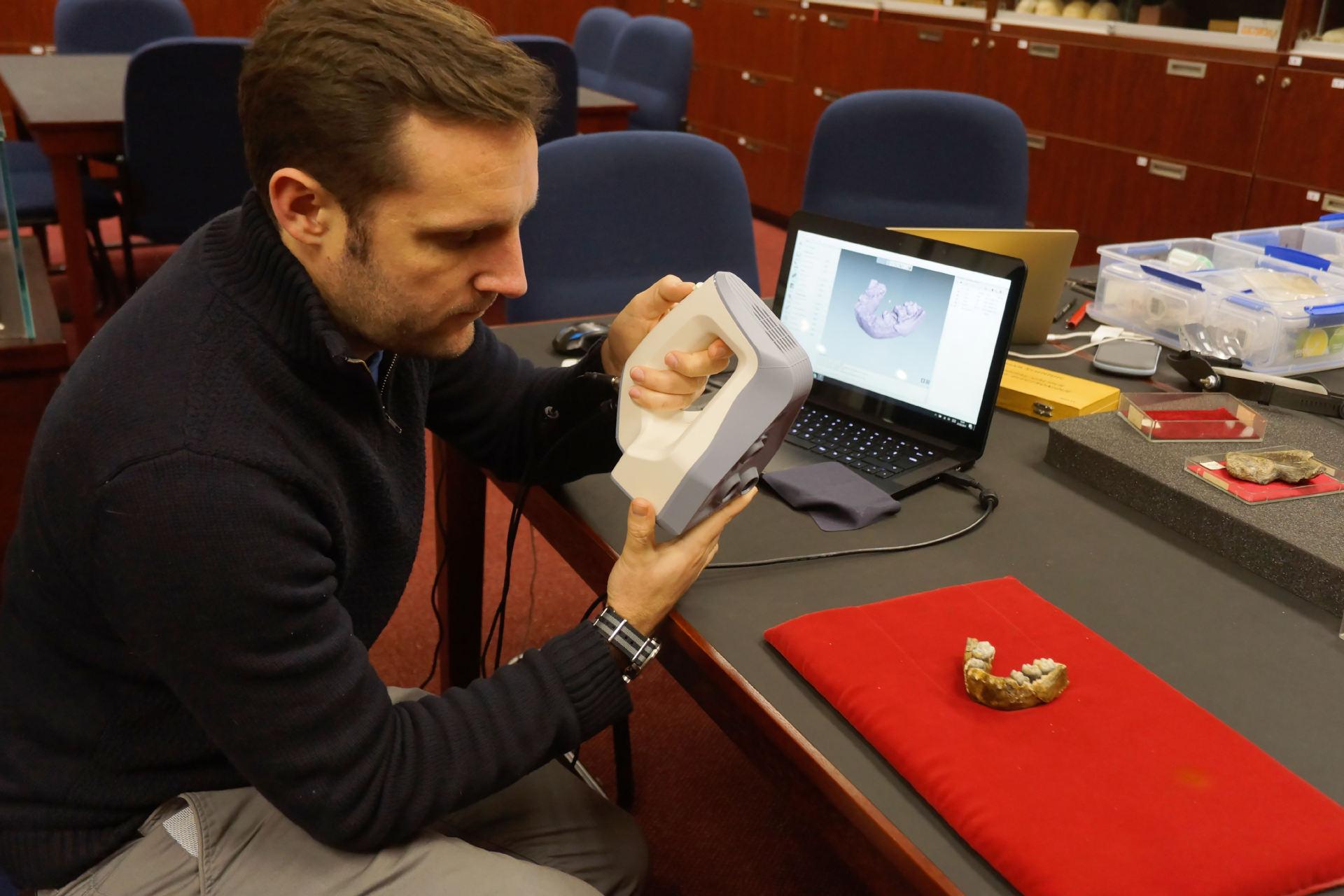 Numérisation 3D de fossiles - Scanner 3D