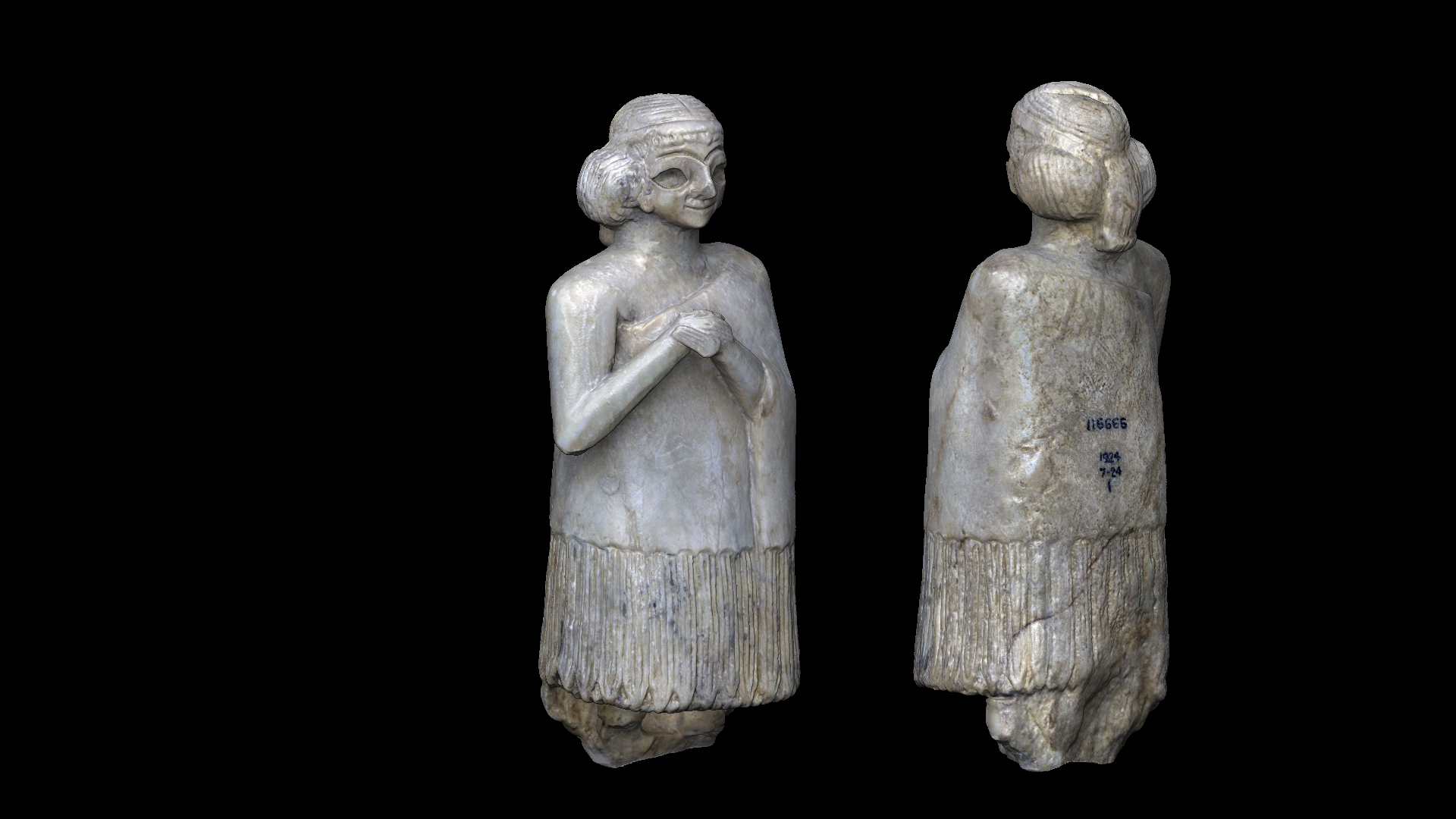 Gypsum Woman - The British Museum - Numérisation 3D