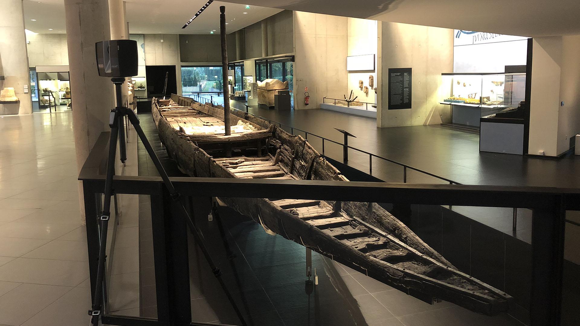 Numérisation 3D - Bateau Musée Arles Antique