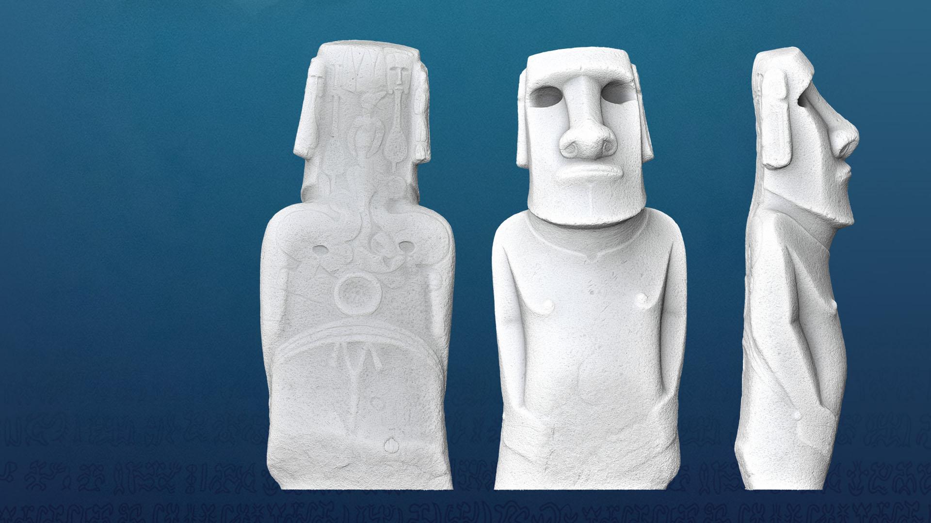 Ile de Pâques - Moai 3D - Museum de Toulouse