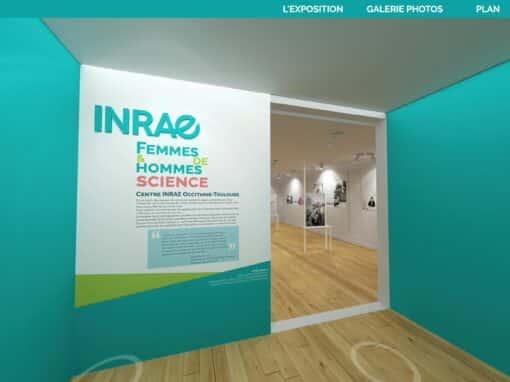 "360° virtual tour exhibition ""men & women of science"" – INRAE"