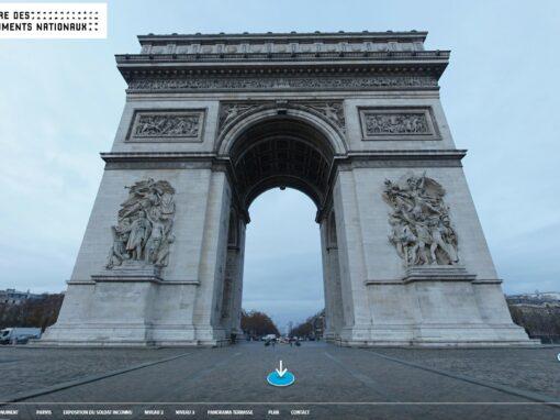 360° virtual tour of arc de triomphe