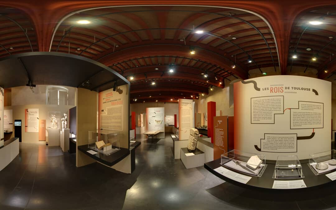 "360° virtual tour exhibition of ""Visigoths, Kings of Toulouse"" – Musée Saint-Raymond Archeology museum of Toulouse"